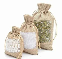 Jute Fancy Pouch