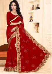 Charming Red Bridal Saree