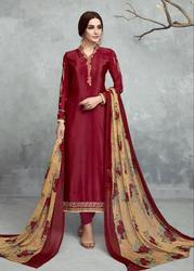French Crepe Embroidered Suits with Designer Dupatta