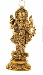 Gold Plated Kuber Statue