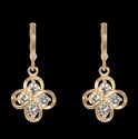 Glittering Charms Brass Drop Earring