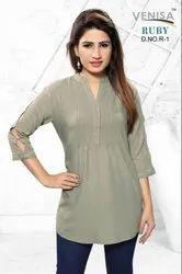 Venisha-Tc Venisha Ruby Stylish Rayon Ladies Top Collection
