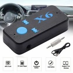 X6 Bluetooth Dongle Car Bluetooth 4.0 USB Music Audio Receiver with TF Card Wireless 3.5MM Jack