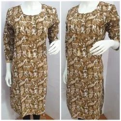 Brown Cotton Kurti