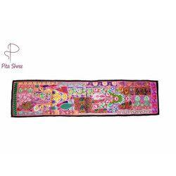 Silk,Cotton Khambadiya Table Runners, Size: 12x60 Inches