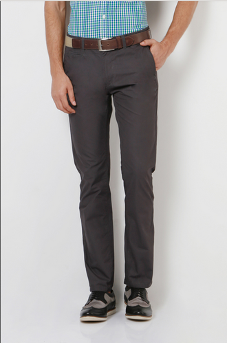 85ae7b359 Ultra Slim Fit Peter England Grey Trousers ETF1041601167