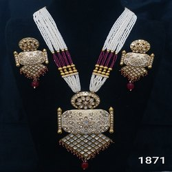 Traditional Meenakari Mala Set