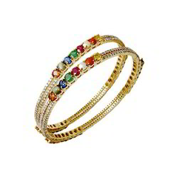 Precious Gemstones Studded Women Bangle