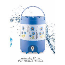 Glamour Blue and White Water Jug, Capacity: 20 Liter
