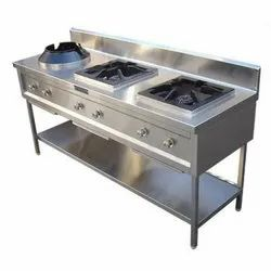 MBH SS Two Burner Indian 1 Burner Chinese Range