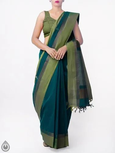 5006a4800 Pure Handloom Uppada Cotton Saree With Tassels With Blouse Piece, Rs ...
