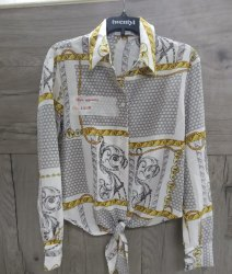 Shine Apparels Georgette Girls Printed Front Tie Shirt, Size: S, M and L