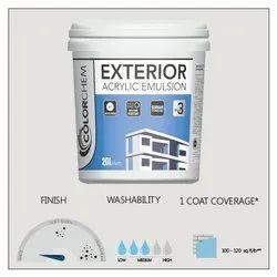 Colorchem Exterior Acrylic Emulsion Paint, Packaging Size: 20 Ltr