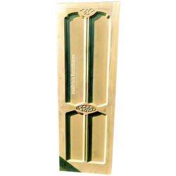 Finished Interior Decorative Solid Teak Wood Door