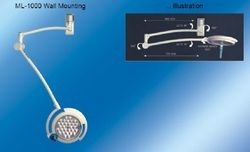 Single Dome Surgical Wall Mounting Light