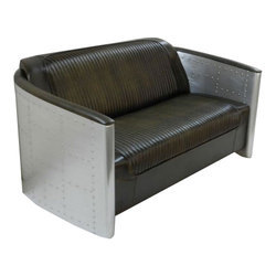 Brown Aluminium Metal Aviator Furniture Sofa