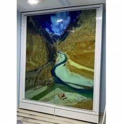 Double Door Glass Design Wardrobe, for Home