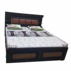 Teak Wood Brown Wooden Modular Bed for Hotel