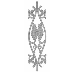 Residential Cast Iron Railing Pillar