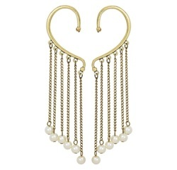 Fancy Party Wear Multi Strings Ear Cuffs Earrings for Girls & Women