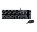 MK100 Logitech Wired Keyboard And Mouse Combo
