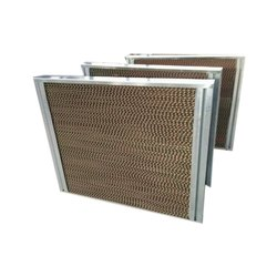 Absorbent Kraft Paper Brown Honeycomb Cellulose Air Cooling Pad