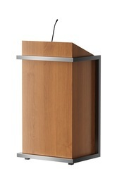 Wood Podium with Power Coated MS Frame