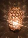 AuraDecor Cage Shape Tealight Holder Crystal Finish