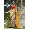 Ladies Net Embroidered Saree