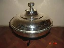 Brass Home Arts Silver Chaffing Dish, Capacity: 8 Ltr