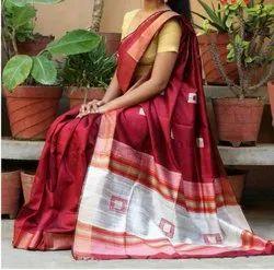 Ethnics Land Bhagalpuri Handwoven Silk Saree , With Blouse Piece