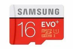 SAMSUNG MicroSD 16GB Memory Card EVO, For Laptop, Memory Size: 16 go b