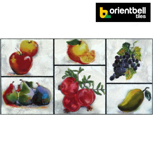 Orientbell Tiles Orientbell OTF FRUIT MULTI Decorative Wall Tiles, Size: 300X600 mm