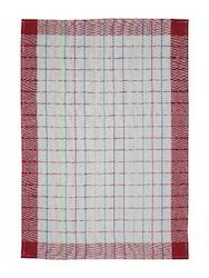 White And Red Cotton Yarn Dyed Towel, Size: 50 x 70 cm