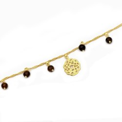 OE0632-01 925 Sterling Silver Gold Plated Anklet
