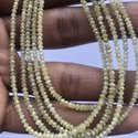Fancy LC Yellow Color Diamond Stone Faceted Rondelle Beads Strand