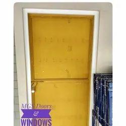 Yellow Galvanized Iron Steel Door Single Type, Single Door