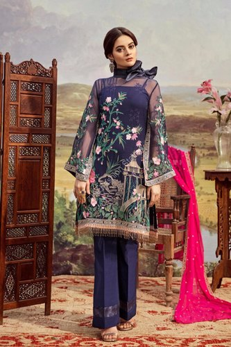 98e04f2e2b Unstitched Chiffon Premium Embroidered Pakistani Suits, Rs 4300 ...