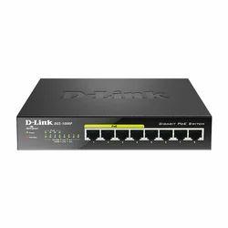 Gigabit Black D-Link 8-Port Desktop Switch with 4 PoE Ports DGS-1008P