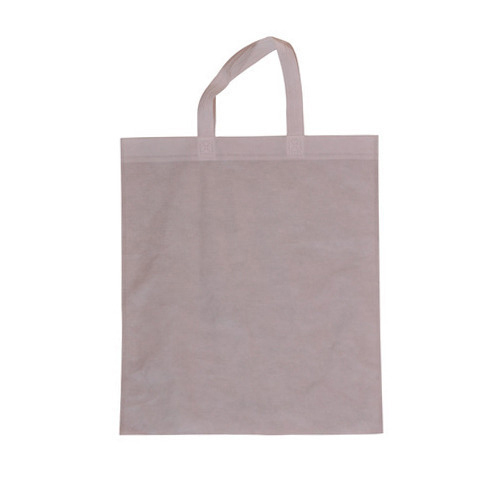 Plain Non Woven Handled Shopping Bag, Size: 15 X 18 inch
