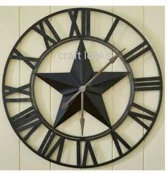 Craft Looks Black CRFT-WC-0007 Decorative Wall Clock, For Office