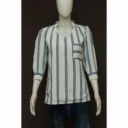 Women 3/4th Sleeves V Neck Stylish Shirt