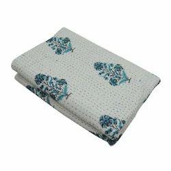 Handmade Printed Cotton Kantha Quilt