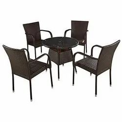 Outdoor Garden Rattan Table and Chair Set