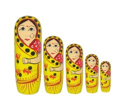 Vaishnavi Marble Handicraft Handmade Decorative Nested Wooden Doll Showpiece