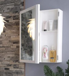 Parasnath Flora Beautiful Big Flora Bathroom Cabinet with Flora Cabinet with Mirror