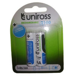 Blue & White Uniross Rechargeable Battery, Capacity: 2100 mAh , Voltage: 1.5 V
