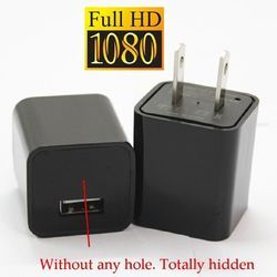 Spy 1080P WIFI -IP MINI AC Adapter Charger Hidden Spy Camera