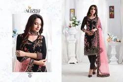 Georgette Churidar Alizeh Zaida Suits, Machine Wash