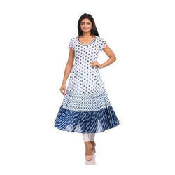 Small Cotton Georgette Printed Ladies Kurti